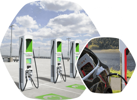 Charging stations for cars